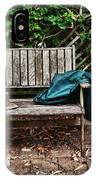 Old Wooden Garden Bench  IPhone Case
