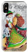 Old World Santa Clause Christmas Art Original Painting By Megan Duncanson IPhone Case