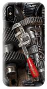 Old Wrenches On Gears IPhone Case
