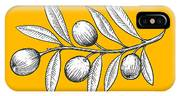 Olive Branch Engraving Style Vector IPhone Case