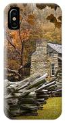 Oliver's Log Cabin During Fall In The Great Smoky Mountains IPhone Case