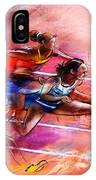 Olympics Heptathlon Hurdles 01 IPhone Case