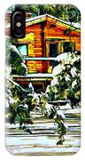 On A Winter Day IPhone Case