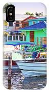 On The Waterfront Caye Caulker Belize IPhone Case
