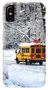 On The Way To School In Winter IPhone Case