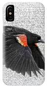On The Wing - Red-winged Blackbird IPhone Case