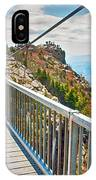 On Top Of Grandfather Mountain Mile High Bridge In Nc IPhone Case