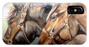 Horse In Watercolor On Watch IPhone Case