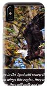 On Wings Of Eagles -in Brown IPhone Case