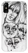 One Angel Three Cats IPhone Case