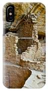 One End Of Spruce Tree House On Chapin Mesa In Mesa Verde National Park-colorado IPhone Case