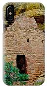 One Entry To Spruce Tree House On Chapin Mesa In Mesa Verde National Park-colorado  IPhone Case