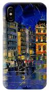 One Evening In Terreaux Square Lyon IPhone Case