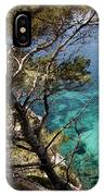 One Step To Paradise - Cala Mitjana Beach In Menorca Is A Turquoise A Cristaline Water Paradise IPhone Case