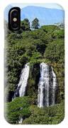 Opaekaa Falls In Kauai IPhone Case