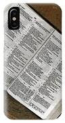 Open Bible IPhone Case
