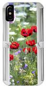 Open Window View Onto Wild Flower Garden IPhone Case