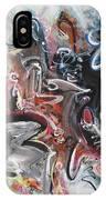 Orang Elblue Black Grey Abstract Landscape Art IPhone Case