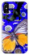Orange And Gray Butterfly IPhone Case