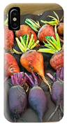Orange And Purple Beet Vegetables In Wood Box Art Prints IPhone Case