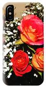 Orange Apricot Roses With Oil Painting Effect IPhone Case