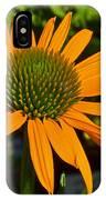Orange Cone Flower IPhone Case
