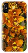 Orange Cymbidium IPhone Case