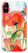 Orange Field Of Poppies Watercolor IPhone Case