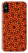 Orange Floral Abstract IPhone Case