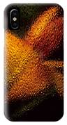 Orange Floral In Abstract IPhone Case