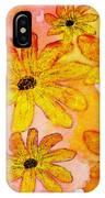 Orange Flowers Galore Digital Art IPhone Case