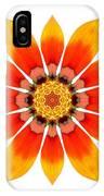 Orange Gazania I Flower Mandala White IPhone Case