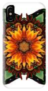 Orange Gazania IIi Flower Mandala White IPhone Case