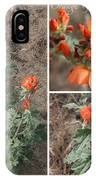 Orange Globe Mallow Collage IPhone Case