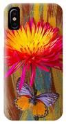 Orange Gray Butterfly On Mum IPhone Case