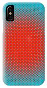 Optical Illusion - Orange On Aqua IPhone Case