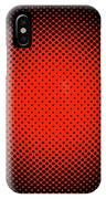 Optical Illusion - Orange On Black IPhone Case