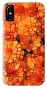 Orange Mums IPhone Case