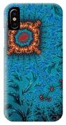 Orange On Blue Abstract IPhone Case
