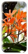 Orange Orchid IPhone Case