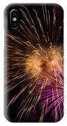 Orange Purple Fireworks Galveston IPhone X Case