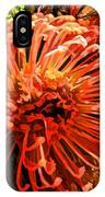Orange Spice Floral  IPhone Case
