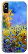 Orange Tree And Blue Cornflowers IPhone Case