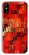 Orange Under Glass Abstract IPhone Case