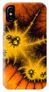 Orange Yellow And Black Abstract Fractal Art IPhone Case