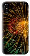 Orange Yellow Green Fireworks Galveston IPhone X Case