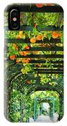 Oranges And Lemons On A Green Trellis IPhone Case