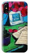 Orchid And Piano Sheets IPhone Case