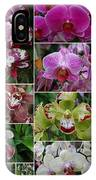 Orchid Collage 1 IPhone Case