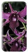 Orchid Dendrobium Lavender Star 204 IPhone Case